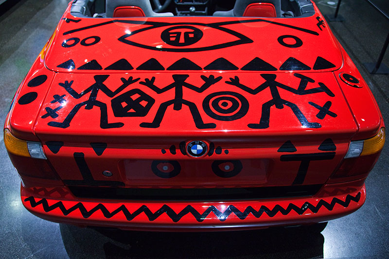 BMW Z1 Art Car von A. R. Penck im BMW Museum
