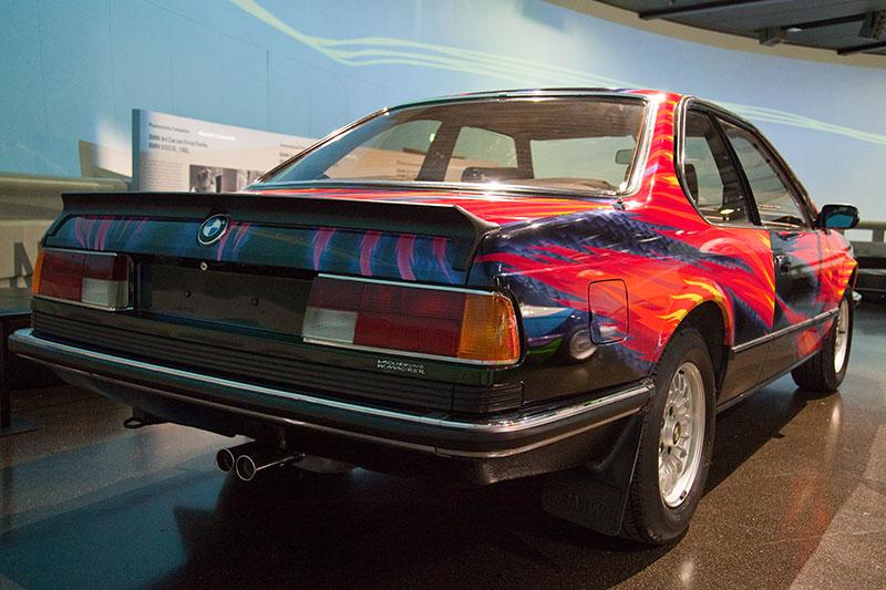 BMW 635 CSi Art Car von Ernst Fuchs im BMW Museum