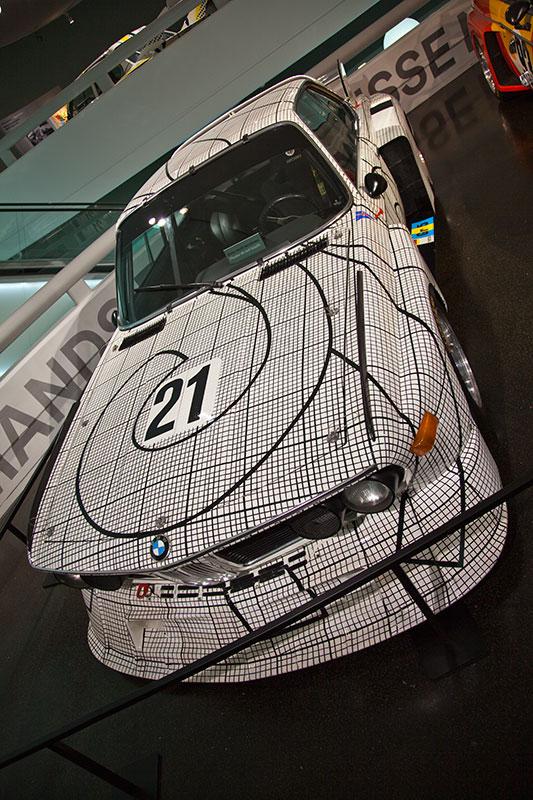 BMW 3,0 CSL Art Car von Frank Stella im BMW Museum