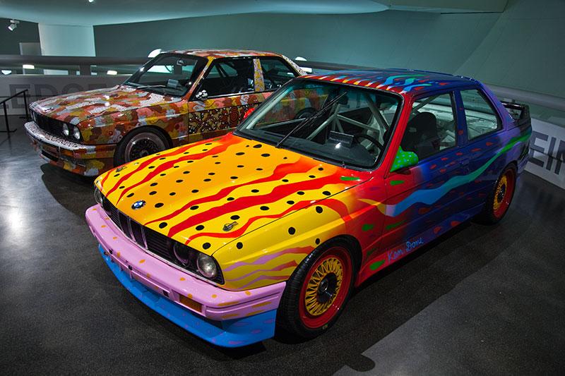 BMW M3 Art Car von Ken Done im BMW Museum in München