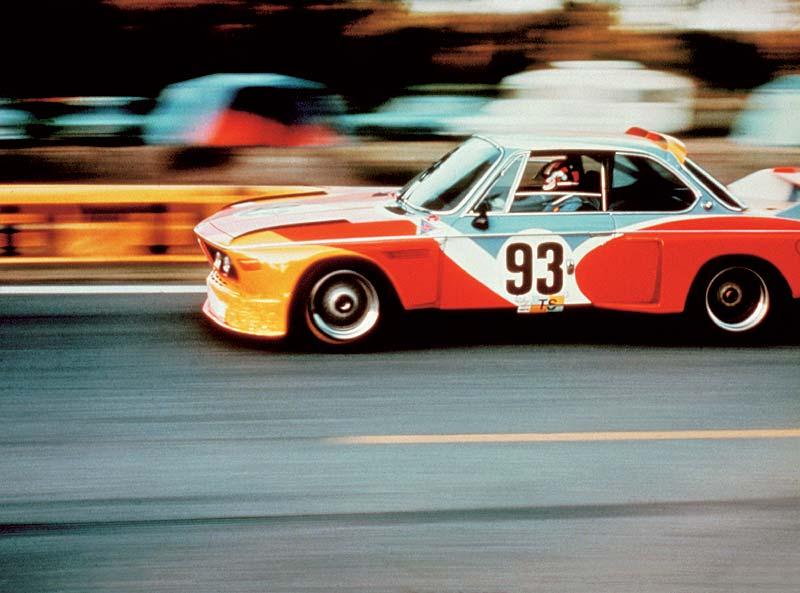 BMW 3,0 CSL Art Car von Alexander Calder im Renn-Einsatz