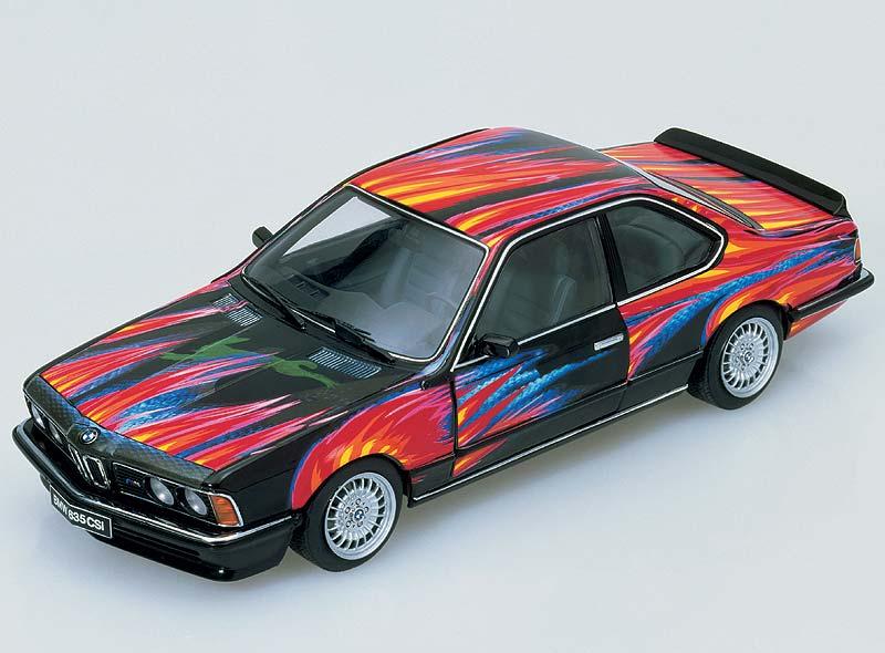 BMW 635 CSi, Art Car von Ernst Fuchs, Miniatur im Maßstab 1:18