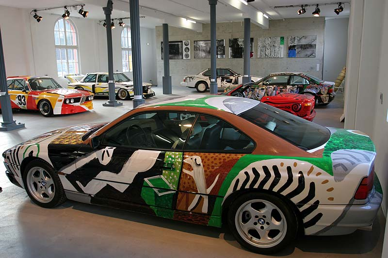 David Hockney, Art Car, 1995 - BMW 850 CSi in Kassel