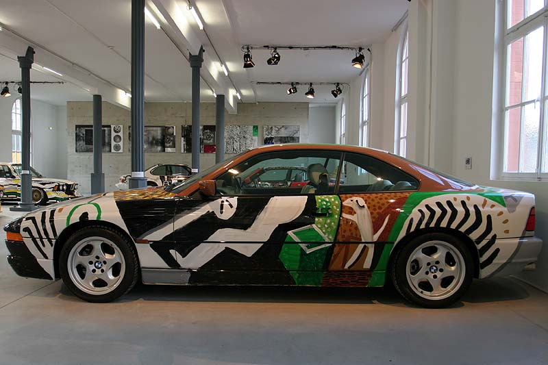David Hockney, Art Car, 1995 - BMW 850 CSi in Kassel