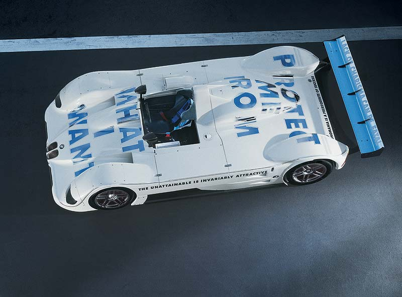 Jenny Holzer, Art Car, 1999 BMW V12 LMR