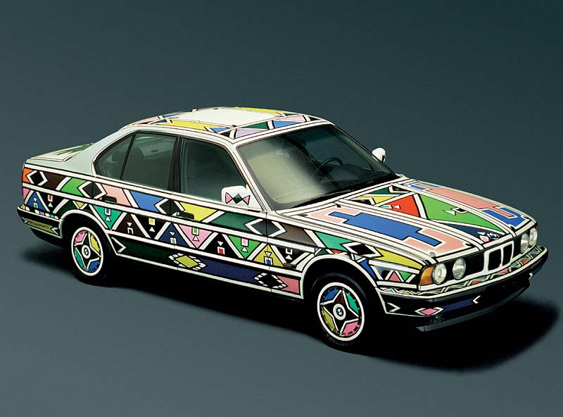 Esther Mahlangu, Art Car, 1991 - BMW 525i