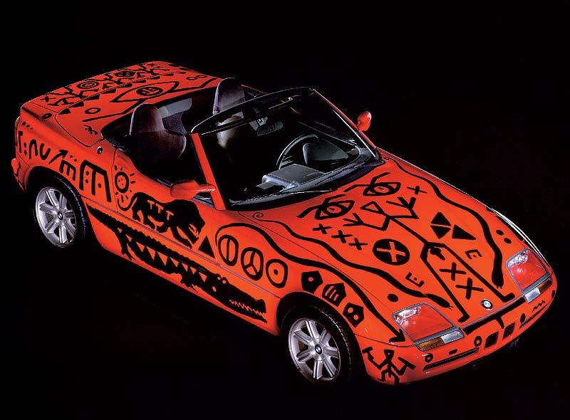A. R. Penck, Art Car, 1991 - BMW Z1