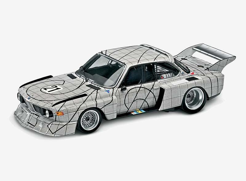 Miniatur des BMW 3,0 CSL Art Car von Frank Stella