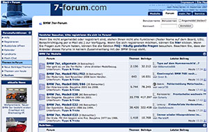 Screenshot BMW 7er-Forum