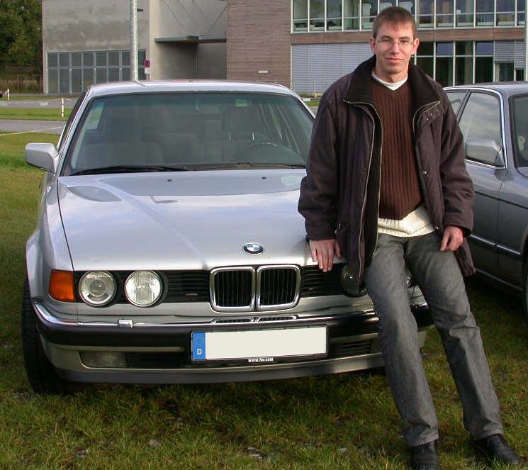 Lars Knobloch ('LK730') mit seinem BMW 730i