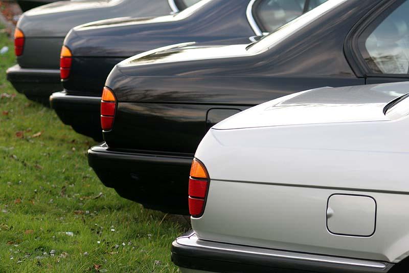 Heck-Ansichten auf dem 50. BMW 7er-Stammtisch in Moers