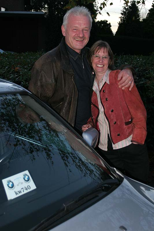 Stammtisch-Mitbegründer Klaus Wienold mit seiner Frau
