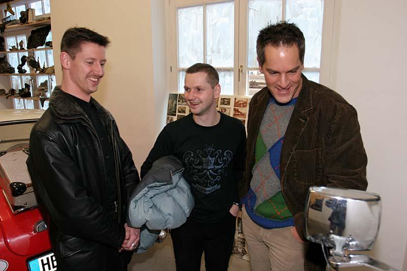 Die Ausstellung macht sichtbar Spaß: Alexander, Markus und Mick