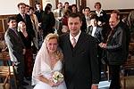 Das Ehepaar Veru und Michael nach seiner Trauung
