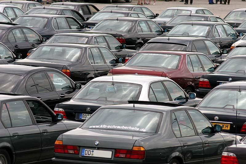 großes 7er-Forumstreffen in Anzing: 7er-Parkplatz