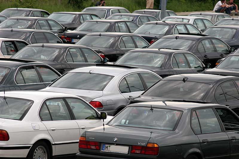 BMW 7er Parkplatz