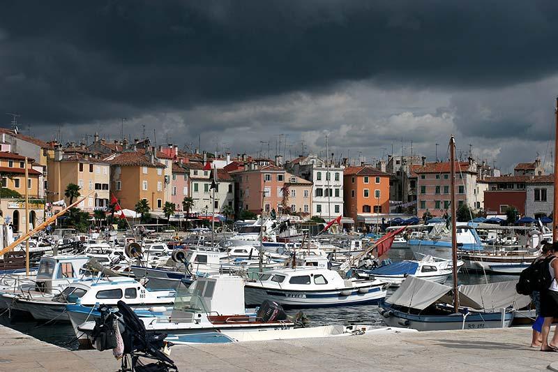 Tag 3: Besichtigung der Stadt Rovinj, hier der alte Hafen