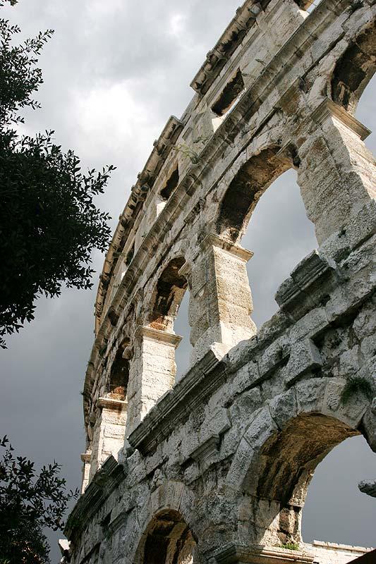 Amphitheater in Pula (Istrien, Kroatien)