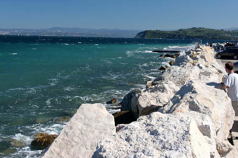Blick von Piran auf das Meer