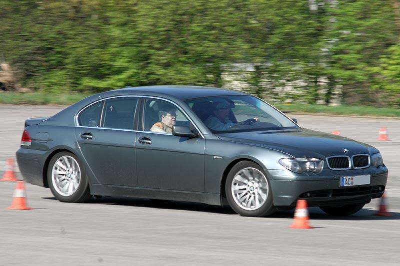 """Peter (""""peterpaul"""") in seinem BMW 745i (E65) mit Beifahrerin Uschi"""