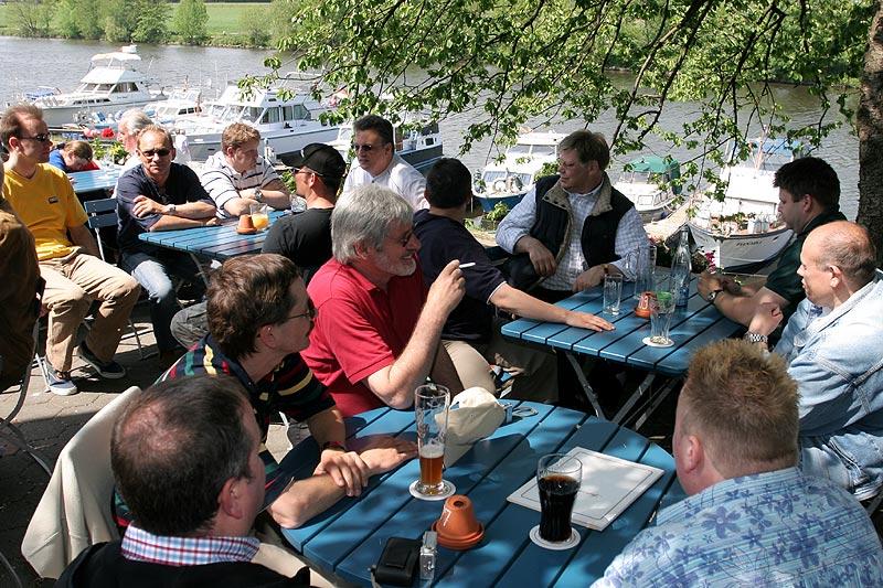 Rhein-Ruhr-Stammtisch direkt an der Ruhr
