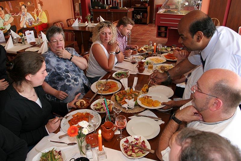 Essen im spanischen Restaurant