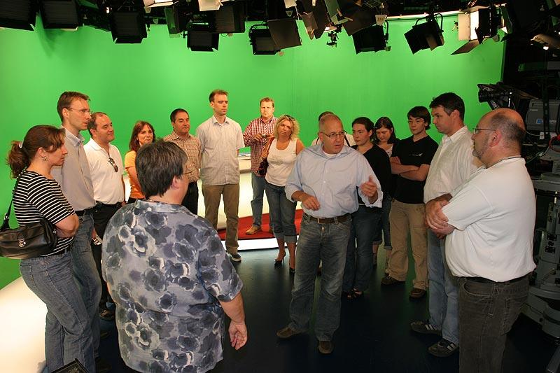 im Nachrichtenstudio von RTL