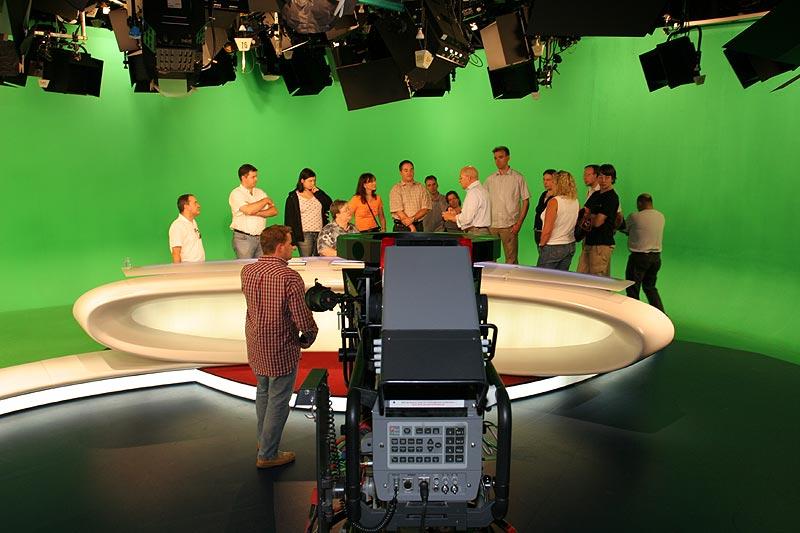 im RTL-Nachrichtenstudio