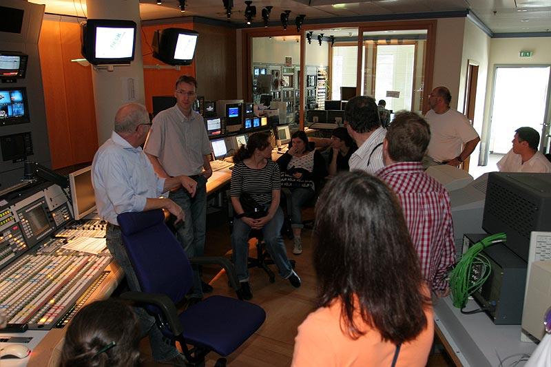 im Regie-Raum von RTL