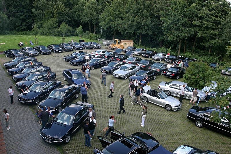 Wegberg Parkplatz vom Dach des Forums aus gesehen