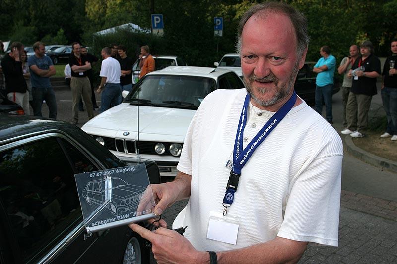 """Heinz-Peter Schmitz (""""TurboPeter"""") gewann mit seinem BMW 745i die Wertung in der Reihe E23"""