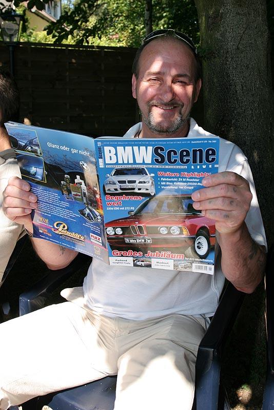 """Claus (""""Claus1"""") schmöckerte in der aktuellen Ausgabe der BMW Scene"""