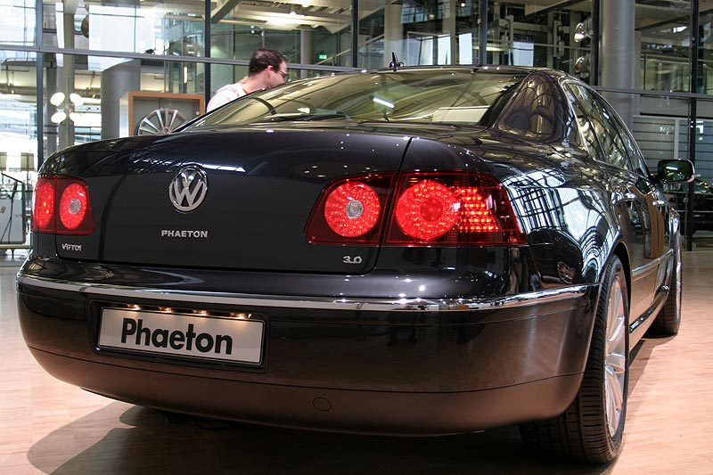 VW Phaeton in der Ausstellung