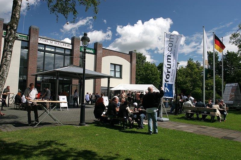 der Treffpunkt für das Jahrestreffen: das Forum Wegberg in Wegberg