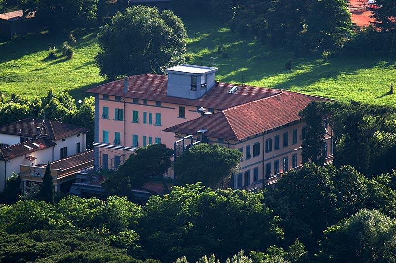 Blick von Montecatini Alto auf das Sternfahrthotel Beleverde