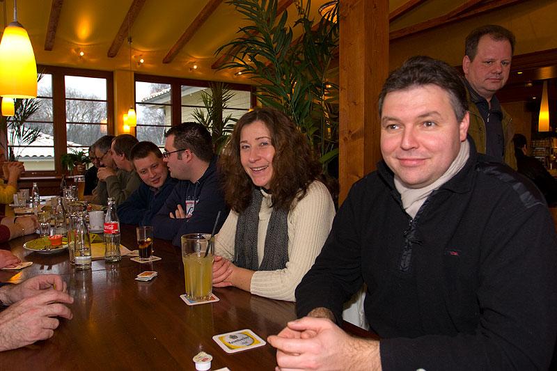 """Andre (""""Herby7"""") mit Freundin Anja (""""Z3-Anja"""") im Café del Sol beim Neujahrs-Stammtisch"""