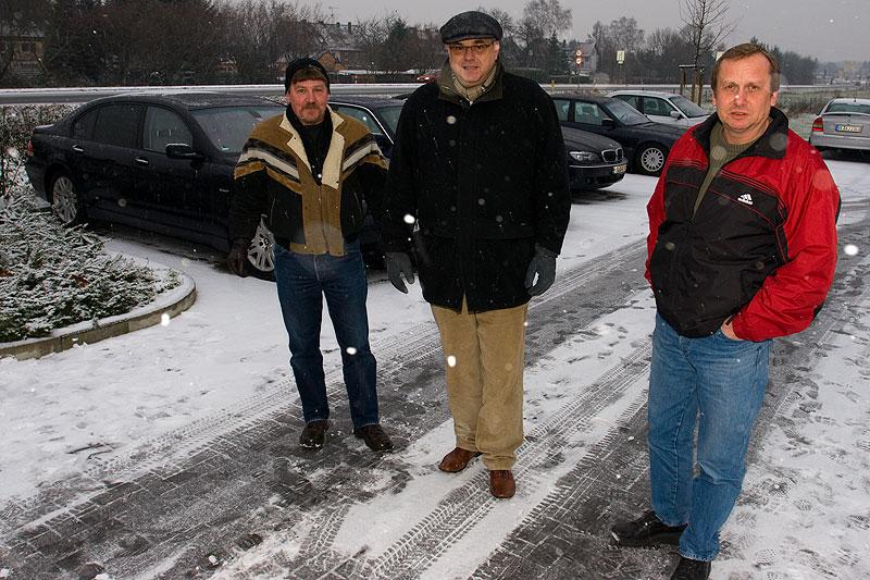 """Peter (""""peter-express""""), Paul (""""Pavlos"""") und Matthias (""""Telekom-iker"""") beim Rhein-Ruhr-Stammtisch"""