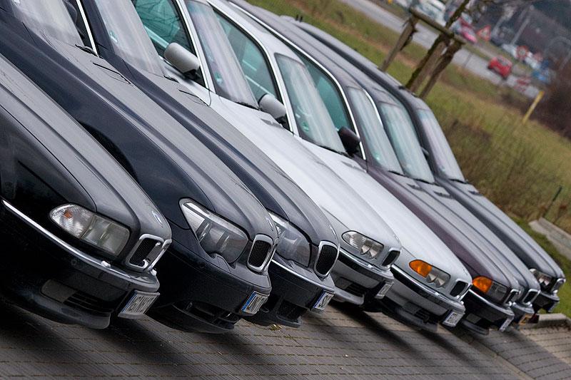 BMW 7er-Reihe auf dem Rhein-Ruhr-Stammtisch im Februar 2009