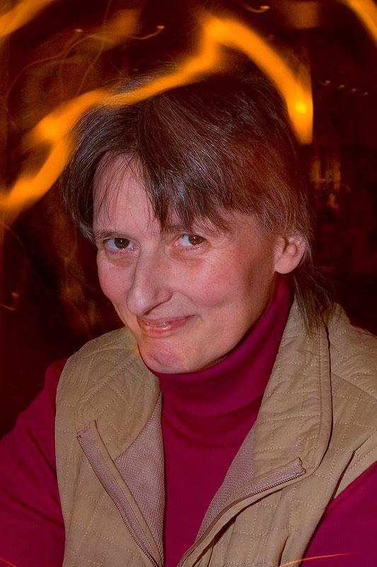 Karin am Abend im Café del Sol