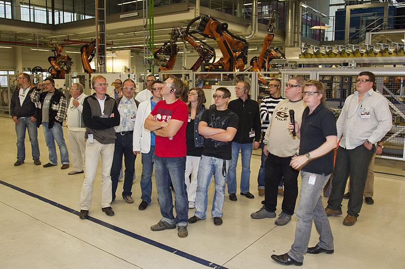 7-forum.com Mitglieder in der Karosserie-Produktion im BMW Werk Leipzig