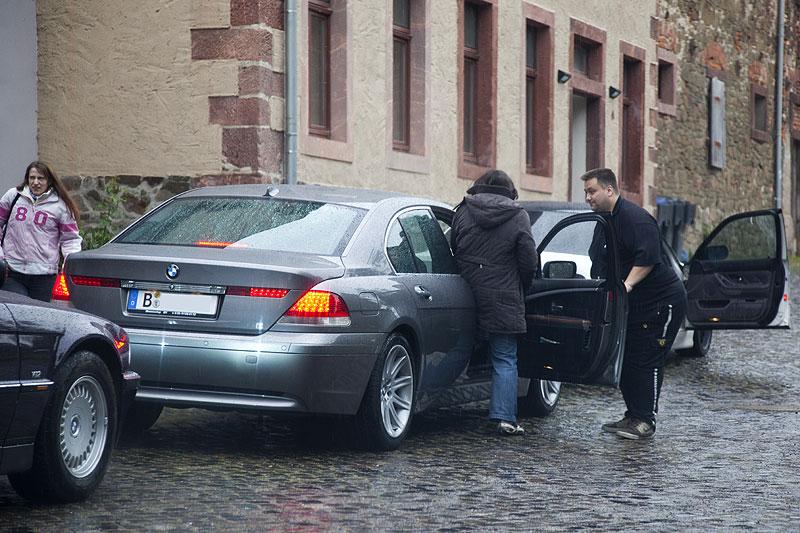 """Torsten (""""DD"""") am BMW 745i von Matthias (""""Bommelmann"""")"""