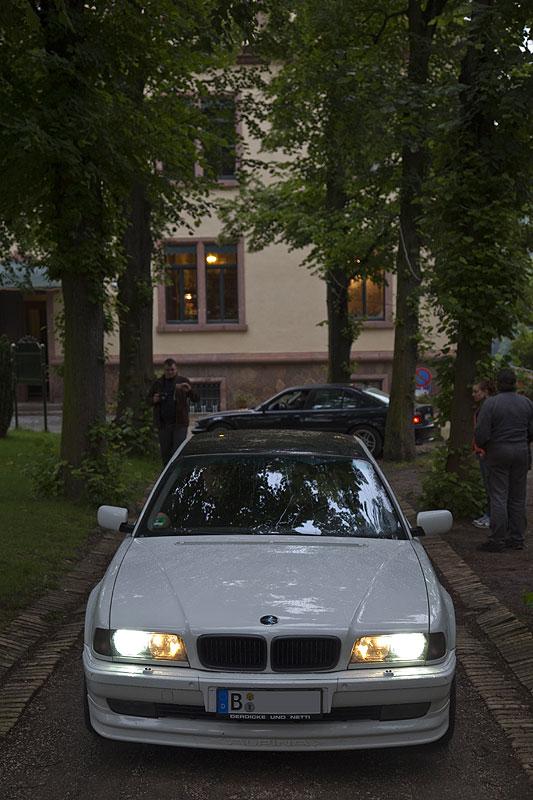 """7er-BMW (E38) von Torsten (""""DD"""") am Schloß Gattersburg"""