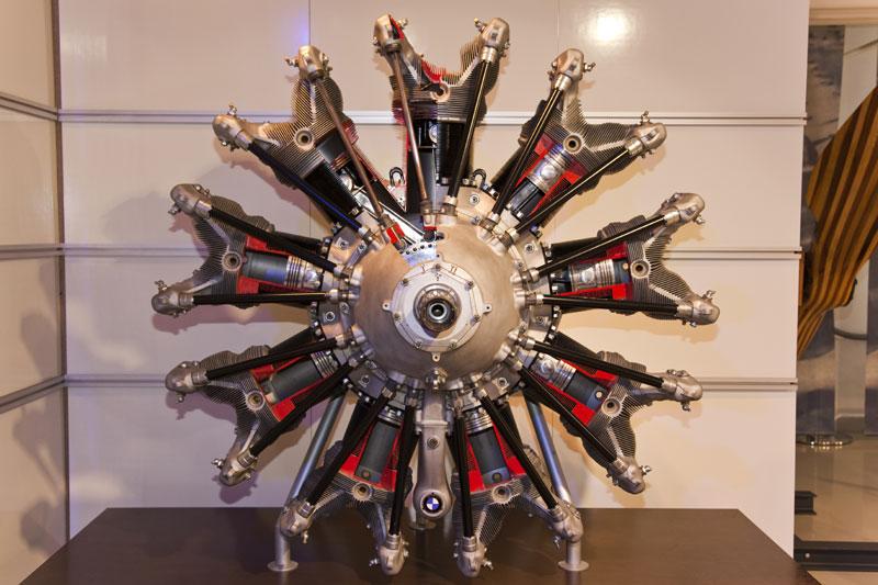 BMW 132, luftgekühlter OHV-Neunzylinder-Sternmotor, zwischen 1933 und 1945 wurden über 21.000 dieser Motoren gebaut