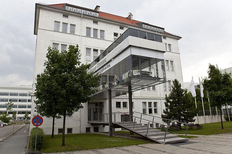 BMW Classic Gebäude, in unmittelbarer Nähe des BMW FIZ in der BMW Allee