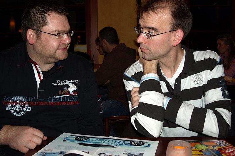 "Alexander (""alander"") mit Christian (""Christian"") im Café del Sol"