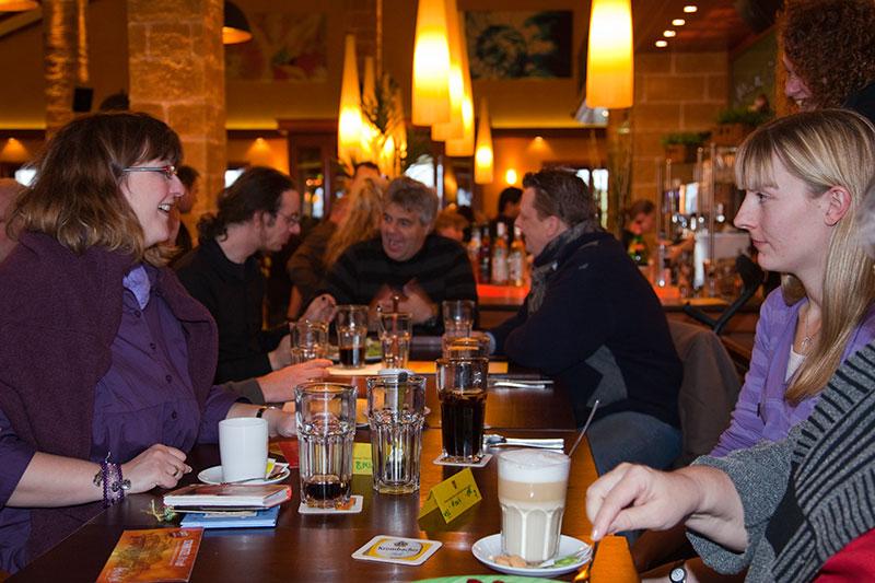 Rheinischer Stammtisch im Februar 2010 im Café del Sol Mönchengladbach