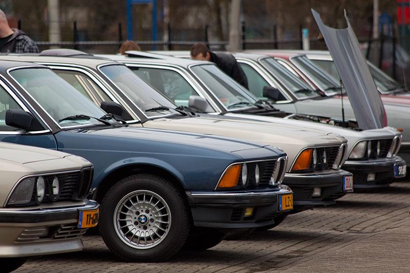 BMW E23-Reihe beim BMW 7er-Treffen in Veenendaal