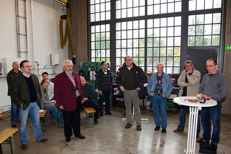 Mark Wagener ('wagener.mark') erklärte den 7-forum.com Teilnehmern sein Projekt im Meilenwerk