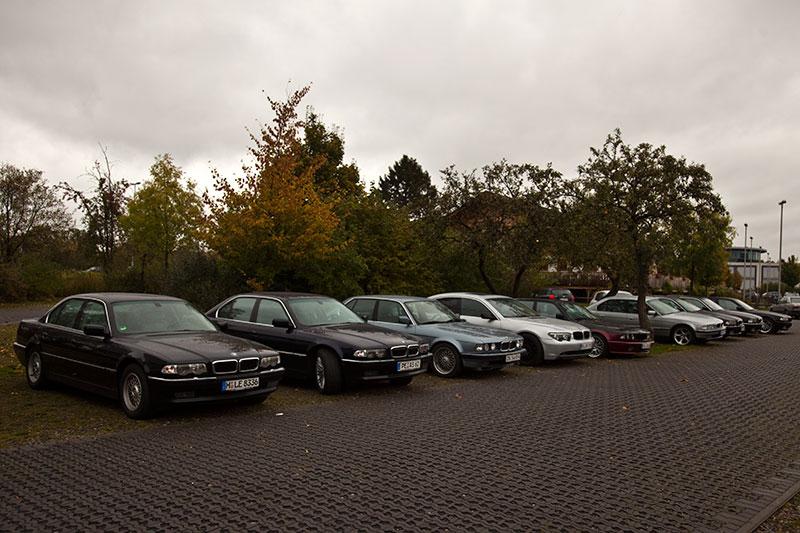 BMW 7er Parkplatz beim neuen 7er-Stammtisch in Hildesheim