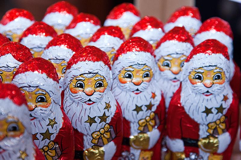 Jeder Teilnehmer bekam einen Schoko-Weihnachtsmann.